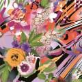 Polyester-Gewebe-rote Blumen-Digital-Druck-Gewebe (TLD-0087)