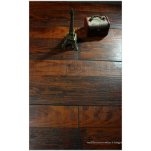 Plancher stratifié à rainure en V de cerise grattée par main commerciale de 12.3mm