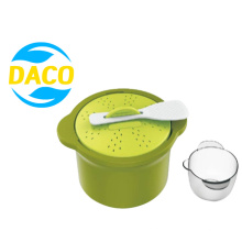 Custom New Design Microwave Cookware Steam for Rice Cutlery