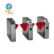Good Quality Flap Turnstile Gate Integrated with Fingerprint and Face Recognition