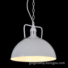 white aluminium pendant lamps for dining room