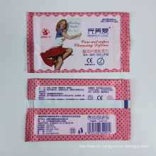 Custom Pack 20PCS Travel Individuell verpackte Feminine Wipes