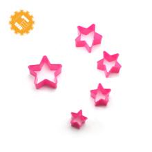 Food grade star shape plastic sandwich cookie cutter set