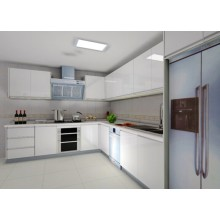 High Glossy UV Finished White Kitchen Cabinet Design (20 days to ship)