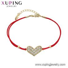75547 xuping dernière conception simple en gros bracelet forme de coeur mignon pour les filles
