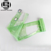 Bolsas de basura plásticas biodegradables de la camiseta perfumada