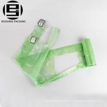 Sacs à ordures en plastique biodégradables d'emballage de t-shirt parfumé