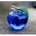 Various Colors Crystal Apple Decoration Glass Craft