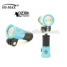 Super brillant 2400lm imperméable 100m lampe torche rechargeable led