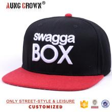 Bordado design do logotipo snapback cap / custom 6 painéis snapback cap e chapéu / personalizado 6 tampas de painel