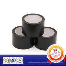 Cinta de advertencia de cable de PVC negro / cinta de precaución para marcar