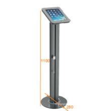 iPad & Tablet Floor Stand Alu. Pillar Lockable & Charging Cable (PAD 001B)