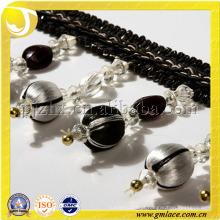 9.5CM Preto e branco Bead Fringe Curtain Drapery Valances Bead Tassel Bracelet