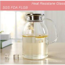 1.8L Heat Resistance Glass Jar Coffee Tea Pot for Wholesaler