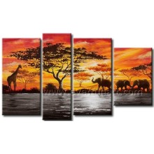 Decoração para casa Arte da parede Pintura africana na lona (AR-156)