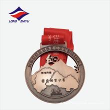 Medalha promocional de presente de metal de montanha 3D da China