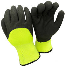 NMSAFETY anti light water winter use 7g half coated winter foam latex soft gloves