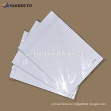 Proveedor de China de alta calidad Sunmeta taza de papel de impresión de sublimación de tinte de papel de impresión A4 A3 precio al por mayor