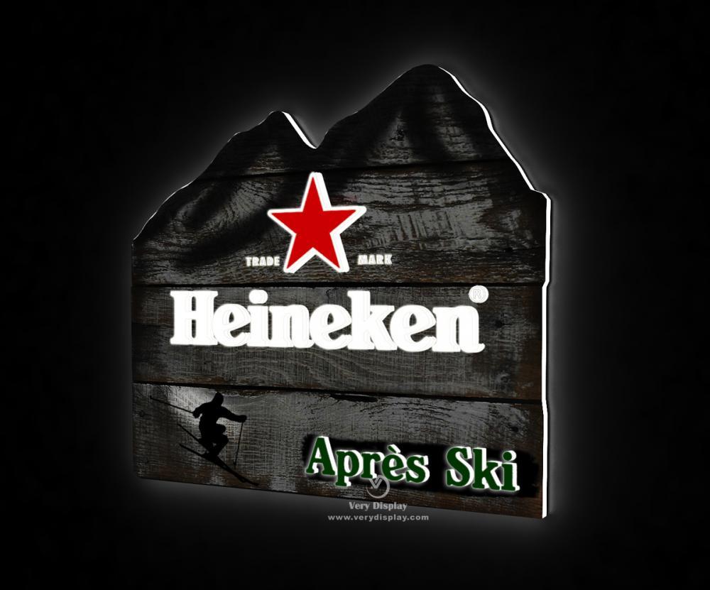Heineken Ski Light Sign