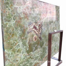 Ancient/Dark Green Onyx Slab, Natural Stone, Polished Surface, 2400 x 1200up with Color Variation
