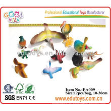 Juguetes de aves de plástico modelo de juguetes de animales de enseñanza de recursos