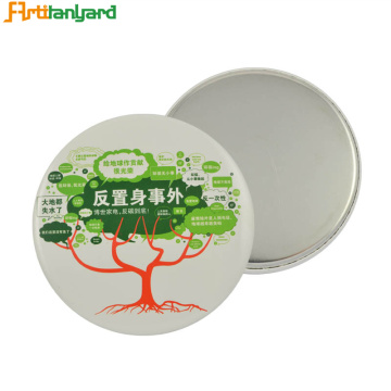 Badge Button With Printing Logo