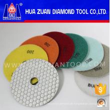 Trocken Schleifen 50 # -3000 # Hexagon Diamant Marmor Polierscheiben