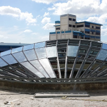 Custom made double glazing glass IGU TGU curved tempered insulated facade glass