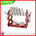Tree Shape 2-Tier Metal Wire Dish Rack