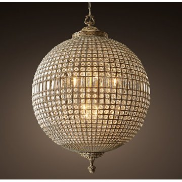 Lámparas de cristal de la bola del proyecto del hotel (UR183)
