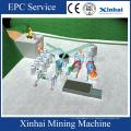 Equipamento de processamento da areia da Mineração da areia de silicone / grupo da mineração da areia do ferro