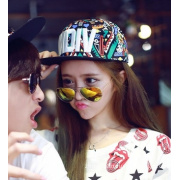 Popular 6 Panels Flat Brim Printed Embroidery Cap