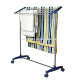BAOYOUNI metal movavle towel rack with casters DQ-0074