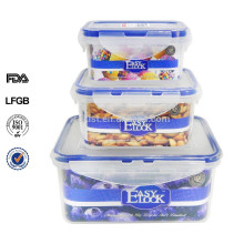 Lebensmittel-Kunststoffbehälter mit Deckel