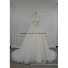 Vestido de casamento de praia assimétrica de alta qualidade
