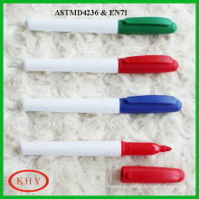 Vibrant colors high quality erasable ink easy wipe marker