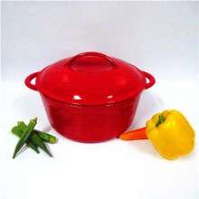colorful enamel round cast iron casserole