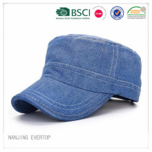 Washed Denim Blank Military Cap Wholesale