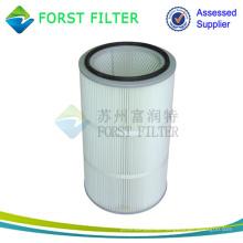 FORST Zylinder Luftpatrone Polyester Luftfilter Material gefaltet Luftfilter Lieferanten