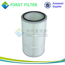 FORST Cylinder Air Cartridge Polyester Air Filter Material Pleated Air Filter Supplier