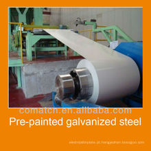 Pré-pintado aço galvanizado em rool, cores diferentes