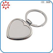 Metallhandwerks-Gewohnheits-Logo-leere Herz-Form Keychain