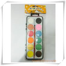 Pintura promocional sólido-seco colorido aquarela conjunto de presente da promoção (oi33009)