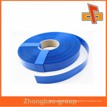 High quality custom plastic blue color PVC shrink film sleeve tube for pipe,battery, dry cell packaging china maker