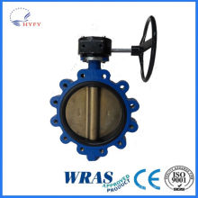 2015 the Best Selling Products cast iron worm gear type butterfly valves
