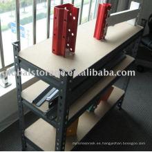 Rivet Shelving for office use/quick assembly shelf