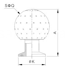 sanitary clamped fixed cleaning ball