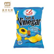 Fabrik-kundenspezifischer Logo-Entwurf druckte wieder versiegelte Aluminiumfolie gezeichneter Plastikmaterial-Kartoffel-Chips, die Tasche verpacken