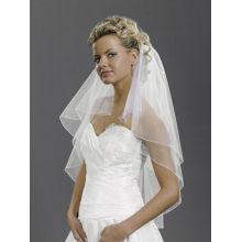 White Ivory 2T Rhinestones beads Elbow Corded Edge Bride Wedding véu pente