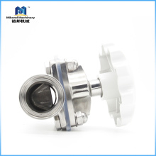 Válvula de diafragma higiénica estándar de acero inoxidable 304 / 316L BPE